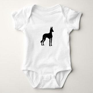 ibizan hound silo2 baby bodysuit