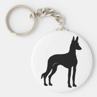 ibizan hound silo2 basic round button keychain
