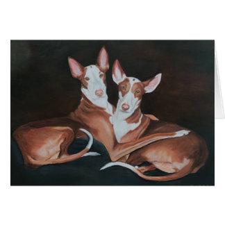 Ibizan Hound Sisters Dog Art Greeting Card