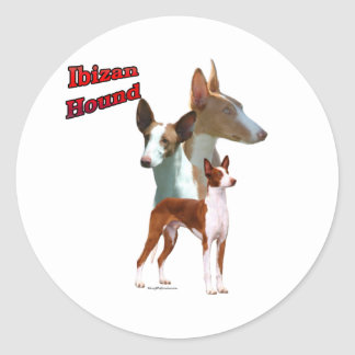 Ibizan Hound Trio 2 - Sticker
