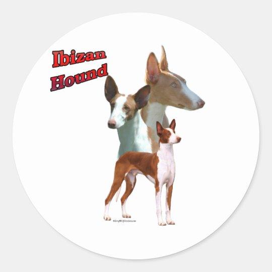 Ibizan Hound Trio 2 - Sticker