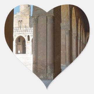 Ibn Tulun Mosque Cairo Heart Sticker
