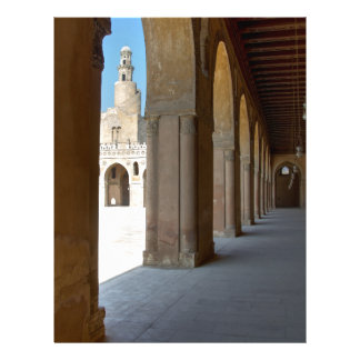 Ibn Tulun Mosque Cairo Letterhead Template