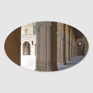 Ibn Tulun Mosque Cairo Oval Sticker