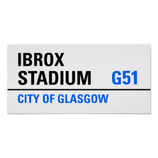 Ibrox Stadium Street Sign