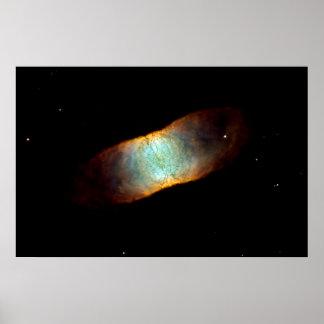 """IC Beauty - IC 4406, """"Retina Nebula"""" Poster"""