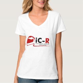 iC-R Custom White Nano V-Neck Tee (Womens)