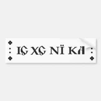 ic xc ni ka bumper sticker dark grey / black