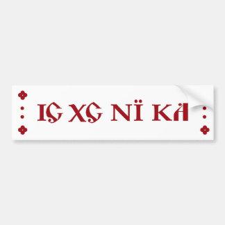 IC XC NI KA Orthodox bumper sticker burgundy