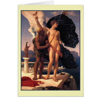 Icarus and Daedalus by Frederick Leighton Card