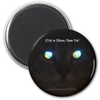 iCat a Glow; See Ya! 2 Inch Round Magnet