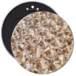 Ice Amber Diamond Crystals Glitter Bling Pinback Buttons
