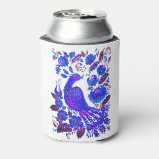 Ice bird petrykivka ukrainian art can cooler