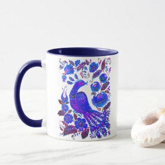 Ice bird petrykivka ukrainian art mug