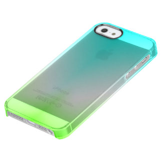 Ice blue and green clear! clear iPhone SE/5/5s case