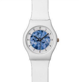 Ice Blue and White Wrist Watches