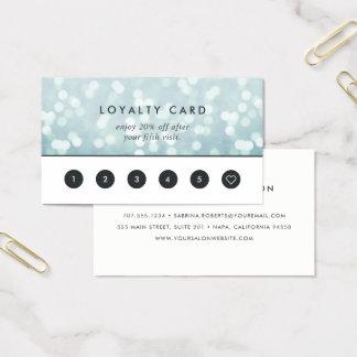 Ice Blue Bokeh | Loyalty Business Card