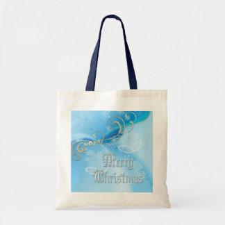 Ice Blue Christmas Tote Bag