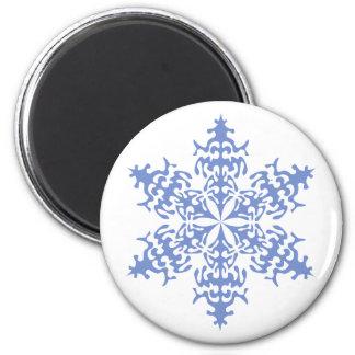 Ice Blue Christmas Winter Snowflake Magnet