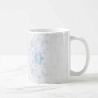 ice blue classic white coffee mug
