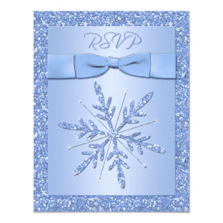 Ice Blue RSVP Card (NOT to use with Square Invite)