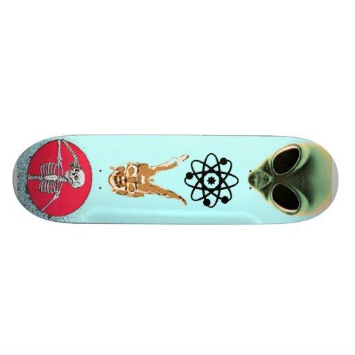 Ice Blue Skateboard Deck