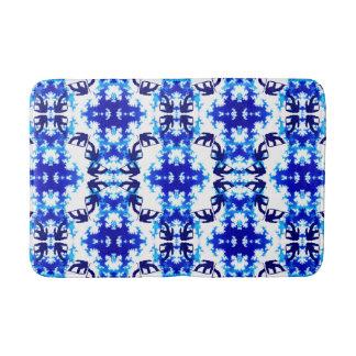 Ice Blue Snowboarder Sky Tile Snowboarding Sport Bathroom Mat