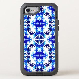 Ice Blue Snowboarder Sky Tile Snowboarding Sport OtterBox Defender iPhone 7 Case