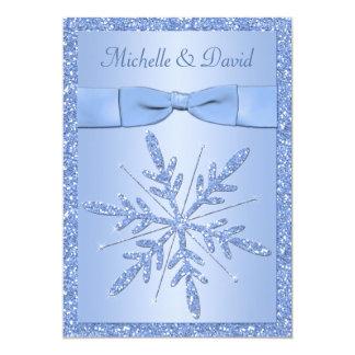 Ice Blue Snowflakes Wedding Invitation