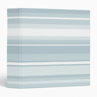 Ice blue stripes 3 ring binder