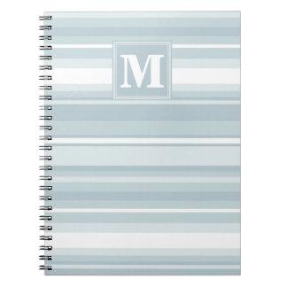 Ice blue stripes notebook