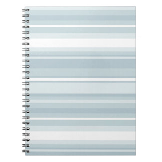 Ice blue stripes spiral note books