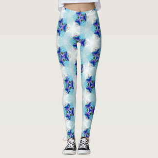 Ice Blue with Purple Accents Leggings