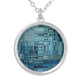 Ice Blue Wonder Design Silver Plated Necklace