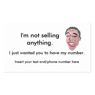 Ice breaker/ My phone number cards Business Card