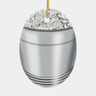 Ice Bucket Ceramic Ornament