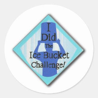 Ice Bucket Challenge Classic Round Sticker