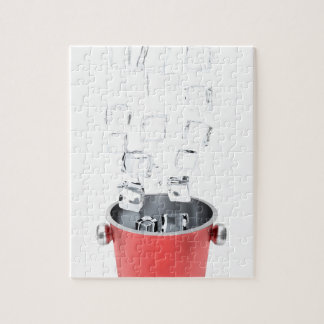 Ice bucket jigsaw puzzle