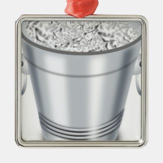 Ice Bucket Metal Ornament