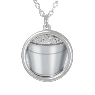 Ice Bucket Silver Plated Necklace