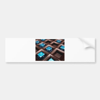 Ice candy cubes bumper sticker