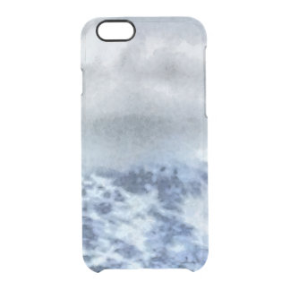 Ice capped mountains clear iPhone 6/6S case