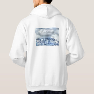 Ice capped mountains hoodie