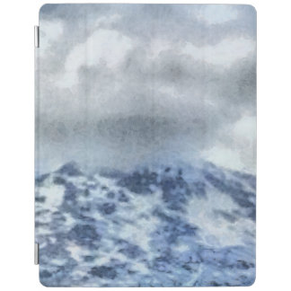 Ice capped mountains iPad cover