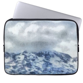 Ice capped mountains laptop sleeve