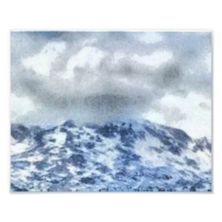Ice capped mountains photo print