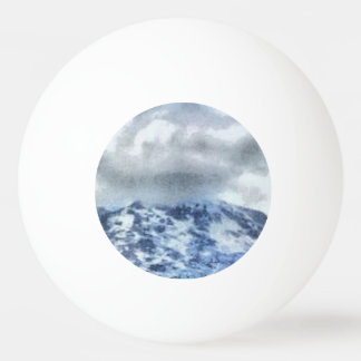 Ice capped mountains ping pong ball