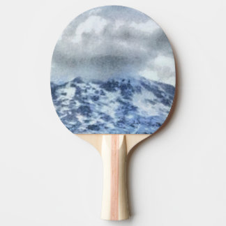 Ice capped mountains ping pong paddle