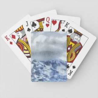 Ice capped mountains playing cards