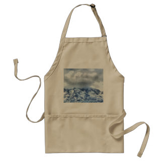 Ice capped mountains standard apron